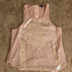 American Eagle sheer tank top with sequins